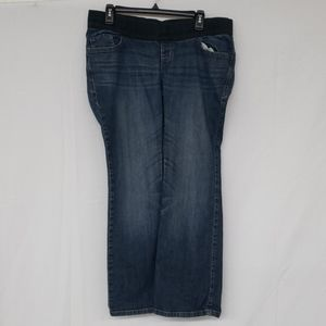 Old Navy Maternity Low Rise Boot Cut Blue Jeans